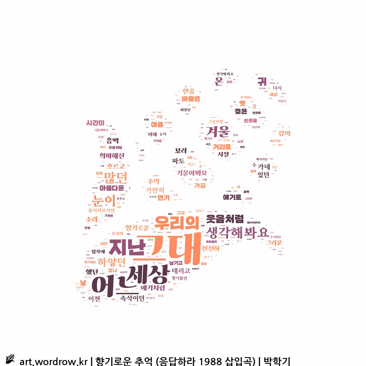 워드 아트: 향기로운 추억 (응답하라 1988 삽입곡) [박학기]-33